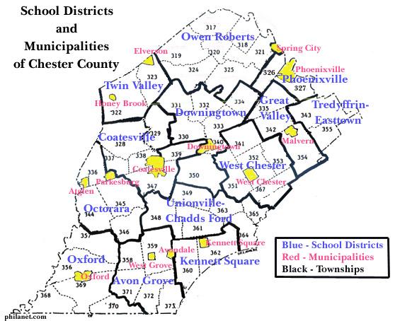 Avon Grove Pa School District Map